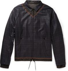 Kolor Checked Wool Bomber Jacket