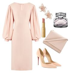 A fashion look from May 2017 featuring Osman dresses, Christian Louboutin pumps y Kate Spade shoulder bags. Browse and shop related looks. Office Fashion, Business Fashion, Business Wear, Modest Fashion, Fashion Dresses, Look Rose, Classy Chic, Classy Casual, Mode Hijab
