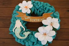 Mermaids and Magnolia's Wreath 018 by KKeithDesigns on Etsy