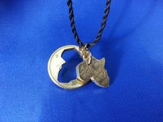 Map Cut Coin Pendant by The Coins Shop by TheCoinsShop on Etsy
