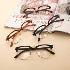 Nueva moda hombre mujer marco del espejo del llano gafas Nerd Geek Eyewear marcos con lente transparente envío gratuito