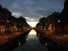Naviglio Grande, Milano, un pomeriggio di gennaio