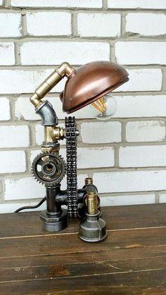 Bedroom nightstand lamps Industrial lamp Industrial standing