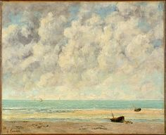 Gustave Courbet (French, Ornans 1819-1877 La Tour-de-Peliz). The Calm Sea, 1869. The Metropolitan Museum of Art, New York. H.O. Havemeyer Collection, Bequest of Mrs. H.O. Havemeyer1929 (29.100.566).