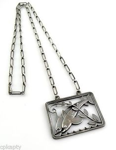 RARE DOLPHINS 1930s ART DECO Georg Jensen Denmark Sterling NECKLACE