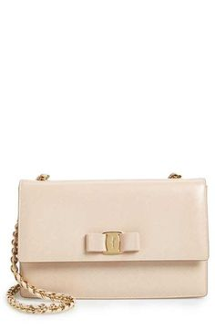 a4724fcacf Salvatore Ferragamo  Ginny  Saffiano Leather Shoulder Bag Salvatore  Ferragamo Shoes