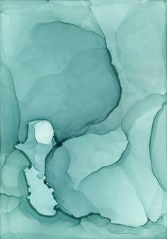 "Sweating Glass, Alcohol inks on Claybord, 5""x3.5"", 2013 www.andreapramuk.com"