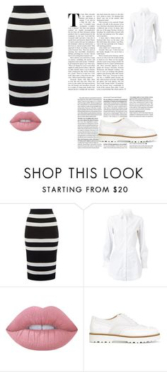 """""""Start of school 3"""" by mirrea on Polyvore featuring moda, Therapy, Alaïa, Lime Crime i Hogan"""
