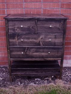 ana white build a small dresser with open bottom shelf cabin collection free