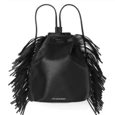 Victoria's Secret Dark Angel black leather bag NWOT Victoria's Secret Bags Backpacks