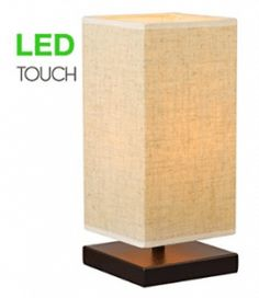 Revel/Kira Home Lucerna Touch Bedside LED Table Lamp, Energy Efficient, Eco-Friendly, Honey Beige Shade Bedside Lamps Ikea, Touch Lamps Bedside, Shabby Chic Lamps, Table Lamps For Bedroom, Steampunk Lamp, Street Lamp, Lamp Bases, Home Improvement, Bulb