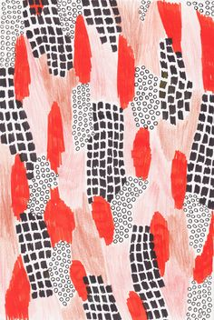 Love this pattern and this color. Would be a fabulous wallpaper, or a giant print in an office. L Wallpaper, Iphone Background Wallpaper, Aesthetic Iphone Wallpaper, Pattern Wallpaper, Surface Pattern Design, Pattern Art, Abstract Pattern, Red Pattern, Colour Pattern