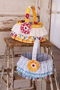Easter Basket Pattern by sweetwaterscrapbook on Etsy
