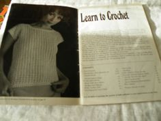 VINTAGE COATS LEARN TO CROCHET, 1960'S PATTERNS & INSTRUCTIONS BOOKLET | eBay
