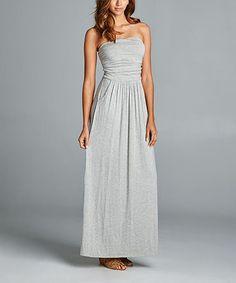 Look what I found on #zulily! Gray Heather Strapless Maxi Dress #zulilyfinds