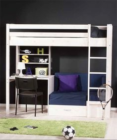 teen girls loft bed with desk | loft beds for girls with desk