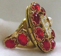 Elizabeth I ring. She had a picture of her mother Anne Boleyn