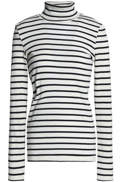 767eea32069f PETIT BATEAU Striped cotton-jersey turtleneck top Fashion Outlet