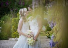 Libby & Claire LGBTQ+ Wedding | Photographer: @ltj1 | Publisher: @handhweddings