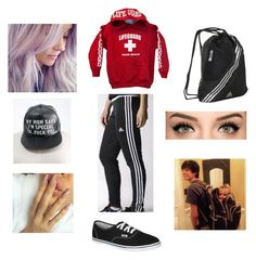 """Shopping with Hayes and Sky // Hayes Grier Skylynn Floyd Grier"" by angelicxoutsider ❤ liked on Polyvore featuring adidas and Vans"