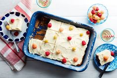 Vanilla-Buttermilk Sheet Cake with Cream Cheese Frosting