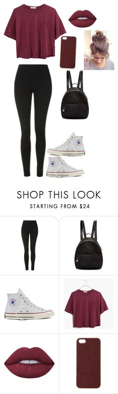 """Liza Koshy"" by lakisha-ii ❤ liked on Polyvore featuring Topshop, STELLA McCARTNEY, Converse, Madewell, Lime Crime and Scotch & Soda"