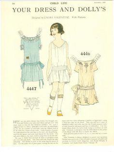 Child Life Magazine Paper Doll Your Dress & Dolly's Nov. 1923 Esther | eBay