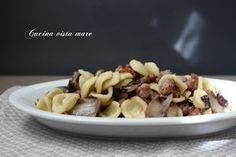 Pasta+radicchio+e+salsiccia