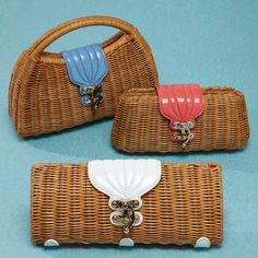 Wicker bags, great shapes