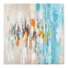 Shop for a variety of unique wall art at Pier 1 Imports. Brighten up your rooms with any of our colorful animal, flower, or nature canvas paintings! Diy Wall Painting, Diy Wall Art, Blue Abstract, Abstract Wall Art, Teal Wall Decor, Colorful Animals, Unique Wall Art, Acrylic Colors, Canvas Art