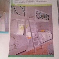 Kids bunk beds via @HouseBeautiful