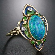 anel art nouveau, 1900