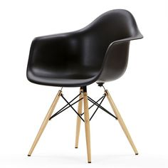 Black Charles Eames Dining Chair With Arm Rest Grey Desk Chair, Eames Dining Chair, Blue Dining Room Chairs, Desk Chairs, Lounge Chairs, Side Chairs, Scandinavian Dining Chairs, Contemporary Dining Chairs, Eames Daw