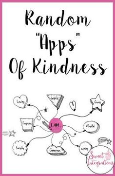 "Teaching character development does not have to be difficult with these random ""apps"" of kindness. See which of the six would work best for your students to share some random acts of kindness in the classroom. It's a great way to integrate technology into your classroom, homeschool, or your character education lessons. Click through for all the details and to see how you could make these work with your 2nd, 3rd, 4th, 5th, 6th, 7th, 8th, or 9th grade classroom or homeschool students."