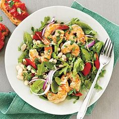 Used this recipe to make the shrimp alone.  It was yummy!  Herbed Shrimp and White Bean Salad   MyRecipes.com
