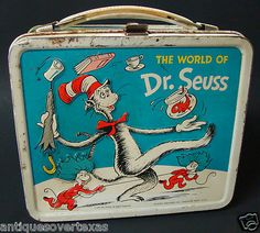 The World of Dr Seuss The Cat in the Hat Vintage Lunch Box Lunch Box Thermos, Tin Lunch Boxes, Vintage Lunch Boxes, Metal Lunch Box, Vintage Metal, Vintage Toys, Retro Toys, Vintage Stuff, Retro Vintage
