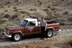 """""""Rootbeer Fleet"""" ranger patrol vehicle for the California BLM, the trusty Jeep J10."""
