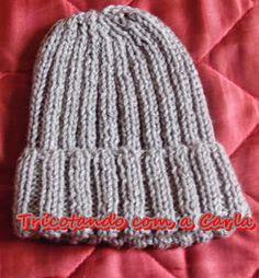 Tricotando com a Carla: Gorro Masculino em tricô