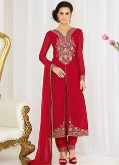 Elegant Straight Cut style #Casual #SalwarSuit