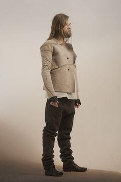 The showpieces for Icelandic designer Sruli Recht's first menswear collectionare made of 21 blackbirds and 27 stillborn lambs.