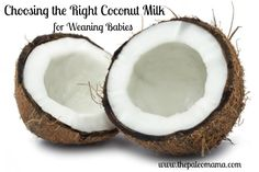 Choosing the Right Coconut Milk (for weaning babies)