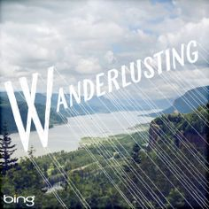 Wanderlust (n.): a strong desire for or impulse to wander or travel and explore the world {image by Jessica Hische} Typography Letters, Graphic Design Typography, Inspiration Typographie, Pergola, Wanderlust, Jessica Hische, Web Design, Monospace, Layout