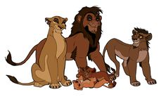 Zira's family: Zira, Jabiri, Nuka, Vitani, and Kovu.  Omg?!?!?! Where do I start?
