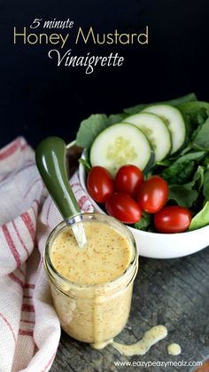 5 Minute Honey Mustard Vinaigrette! This dressing is good enough to drink! - Eazy Peazy Mealz