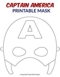 Free Printable Superhero Face Masks for Kids Planning a superhero theme party? Use this FREE printable DIY Captain America Mask template! This Captain America coloring page is perfect for birthday party favors or even a Halloween costume! Captain America Maske, Printable Masks, Printable Crafts, Free Printable, Capitan America Mascara, Superhero Mask Template, Captain America Coloring Pages, Carnavals