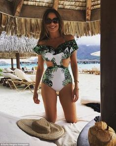 """Sizzle in a tropical Agua Bendita swimsuit like Sofia Vergara  Click """"Visit"""" to buy #DailyMail"""