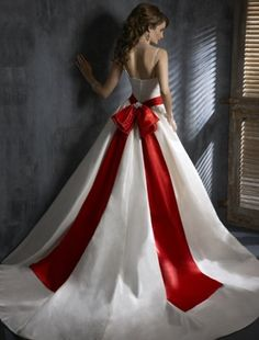 love white and red wedding dresses