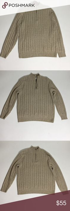 Bill Blass Menswear Oatmeal Pullover Sweater - XL Please ask questions before purchasing.  Gently Used Condition - Few pulls.  See pictures for more information and description details.  Thank you for stopping by my closet.  Sparkles ✨ and Happy Poshing!  📌Fair Offers Considered Bill Blass Menswear Sweaters Cardigan