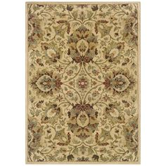 Shop Sedia Home Paige 7-ft 10-in x 10-ft Rectangular Cream Floral Area Rug at Lowes.com