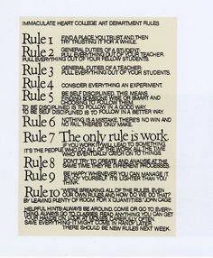 Sister Corita Kent's 10 Rules for Students and Teachers – Technology, Pedagogy, Curriculum + Research (TPC+R)